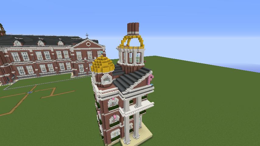 Minecrafterししゃもがマインクラフトでぷっこ村にレンガ造りの村役場を作る7