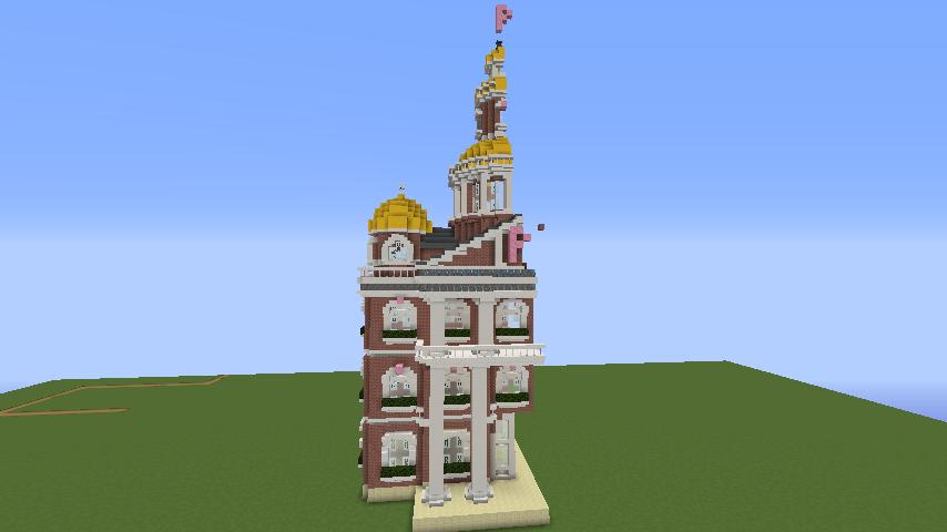 Minecrafterししゃもがマインクラフトでぷっこ村にレンガ造りの村役場を作る8