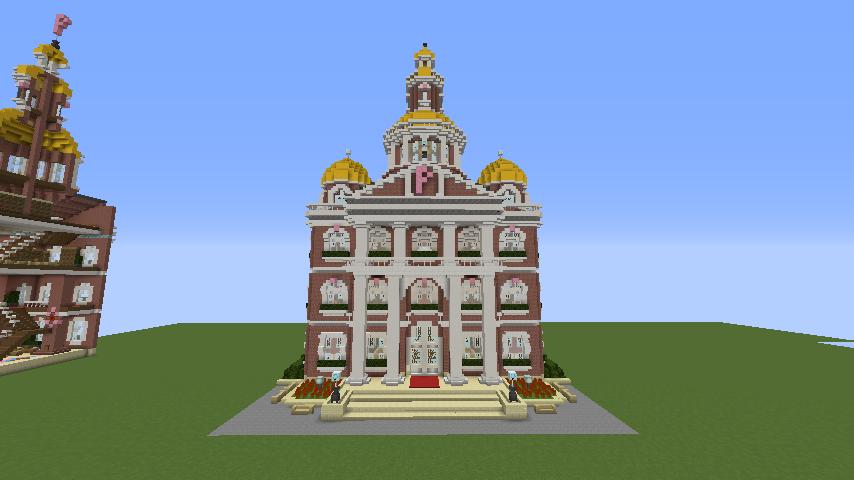 Minecrafterししゃもがマインクラフトでぷっこ村にレンガ造りの村役場を作る9