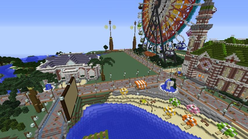 Minecrafterししゃもがマインクラフトでぷっこ村にレンガ造りの村役場を作る10