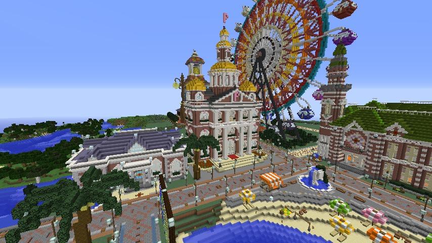 Minecrafterししゃもがマインクラフトでぷっこ村にレンガ造りの村役場を作る11