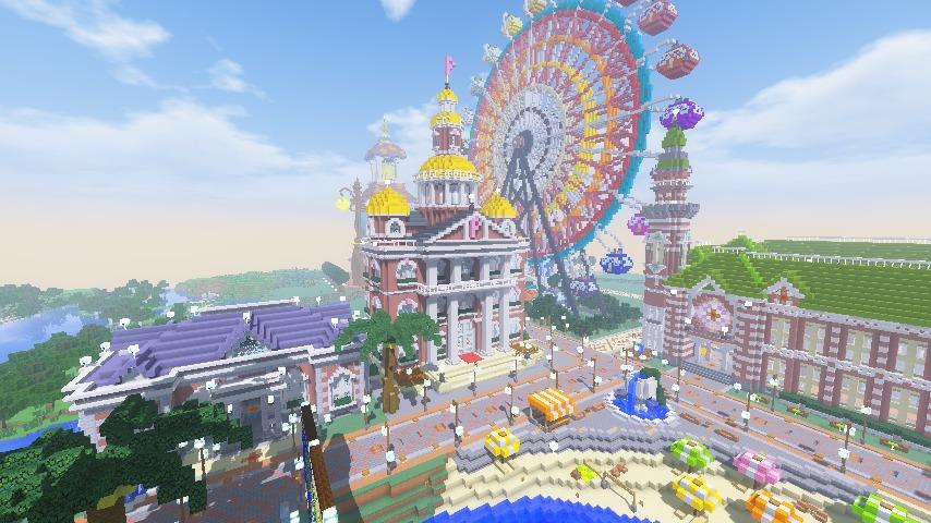 Minecrafterししゃもがマインクラフトでぷっこ村にレンガ造りの村役場を作る12