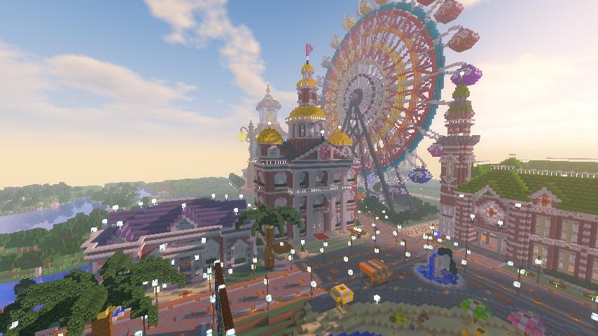 Minecrafterししゃもがマインクラフトでぷっこ村にレンガ造りの村役場を作る22