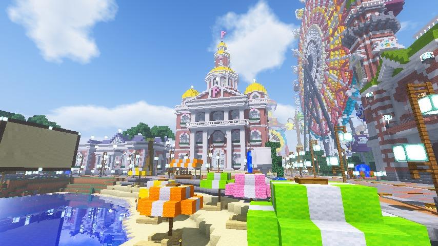 Minecrafterししゃもがマインクラフトでぷっこ村にレンガ造りの村役場を作る13