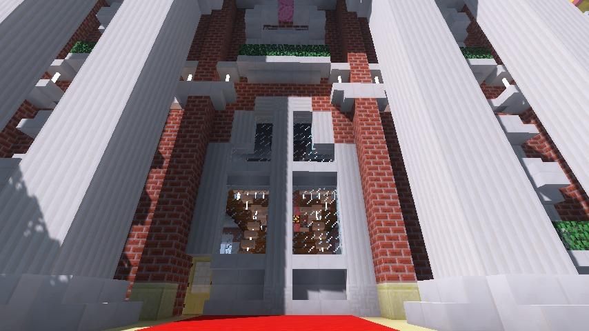 Minecrafterししゃもがマインクラフトでぷっこ村にレンガ造りの村役場を作る16