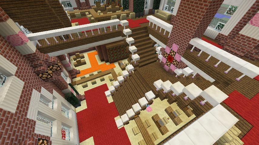 Minecrafterししゃもがマインクラフトでぷっこ村にレンガ造りの村役場を作る18
