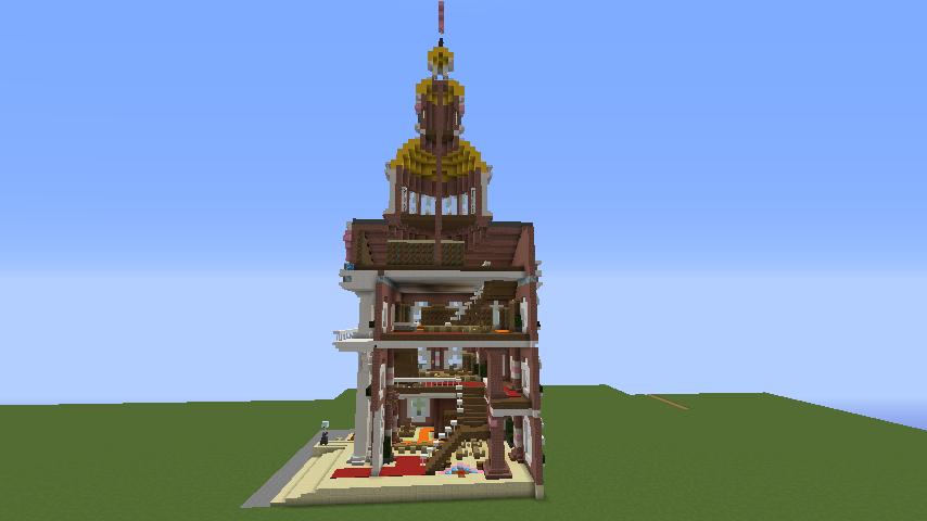 Minecrafterししゃもがマインクラフトでぷっこ村にレンガ造りの村役場を作る15