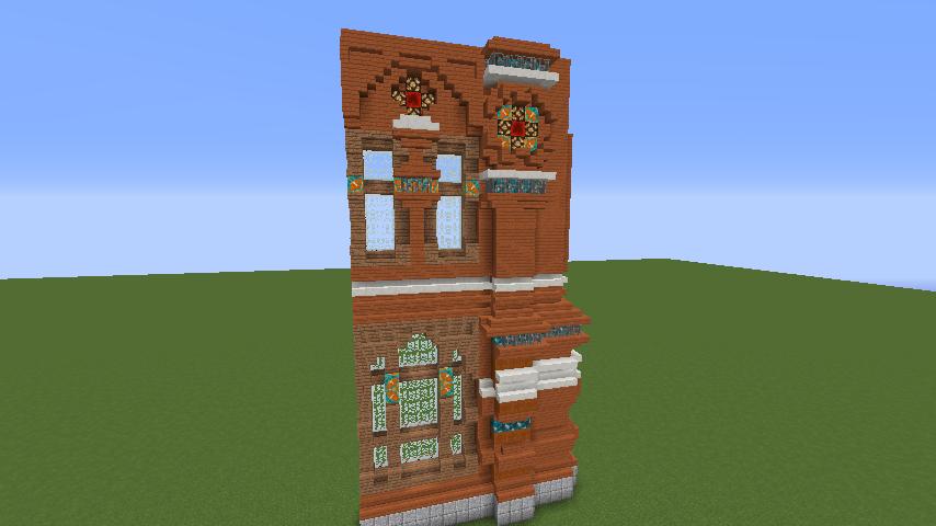 Minecrafterししゃもがマインクラフトでぷっこ村にロシア国立歴史博物館をモデルにしたぷっこ村長の別荘を建築する2
