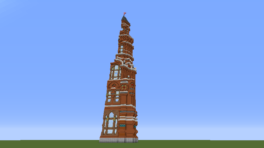Minecrafterししゃもがマインクラフトでぷっこ村にロシア国立歴史博物館をモデルにしたぷっこ村長の別荘を建築する3