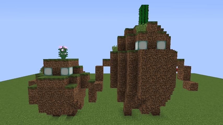 Minecrafterししゃもがマインクラフトでぷっこ村にいろんなゴーレムを召喚する4