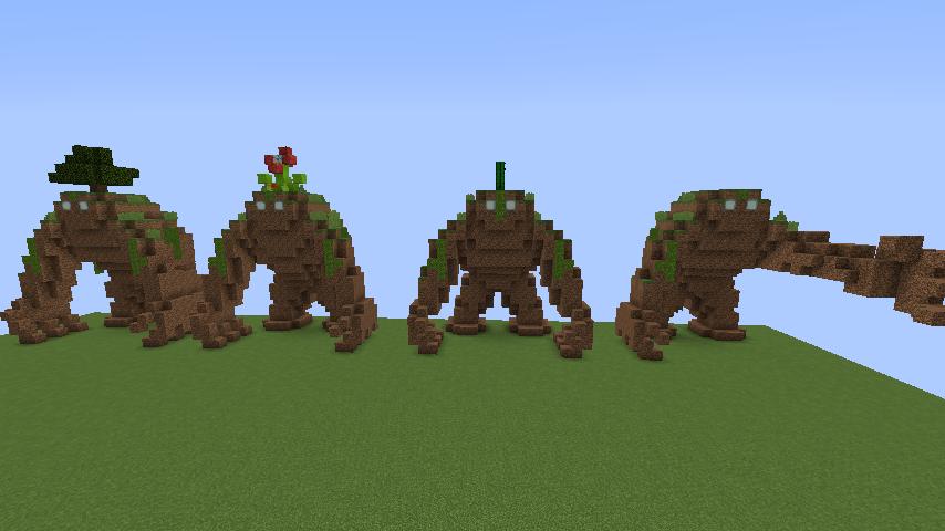 Minecrafterししゃもがマインクラフトでぷっこ村にいろんなゴーレムを召喚する7