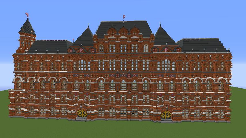 Minecrafterししゃもがマインクラフトでぷっこ村にロシア国立歴史博物館をモデルにしたぷっこ村長の別荘を建築する10