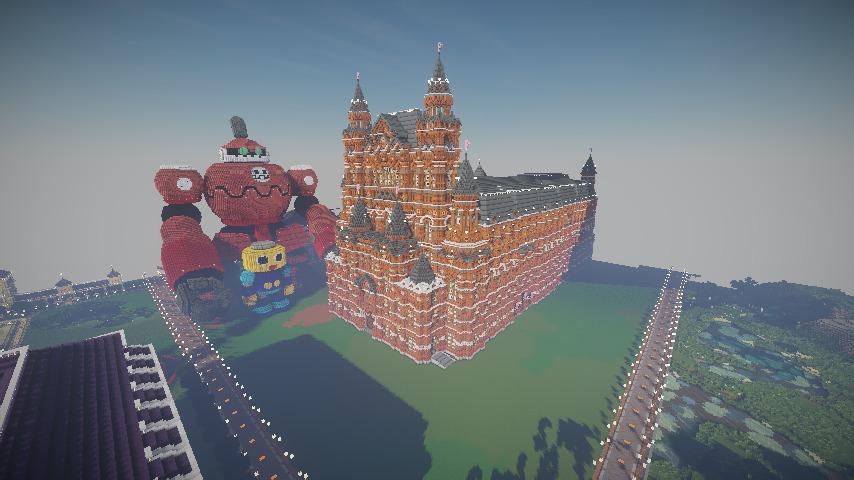 Minecrafterししゃもがマインクラフトでぷっこ村に別荘を作る14