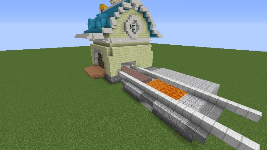 Minecrafterししゃもがマインクラフトでぷっこ村にポークフランク工場を建築する4