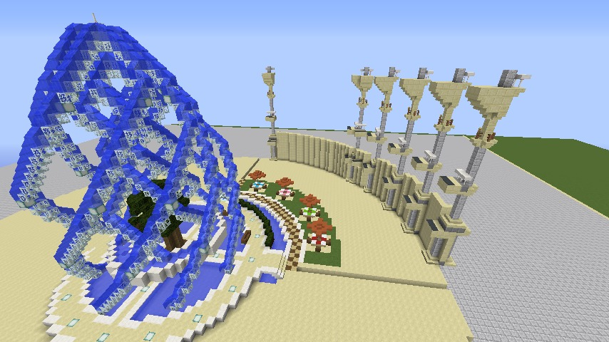 Minecrafterししゃもがマインクラフトで建築依頼を受けたビギナーズホールを建築する3