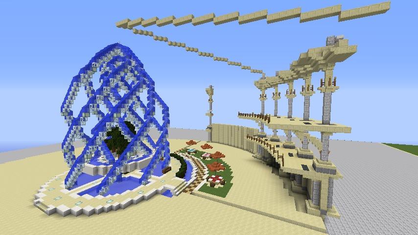 Minecrafterししゃもがマインクラフトで建築依頼を受けたビギナーズホールを建築する4