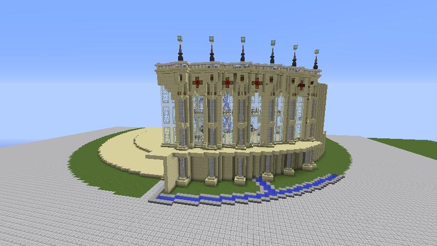 Minecrafterししゃもがマインクラフトで建築依頼を受けたビギナーズホールを建築する7