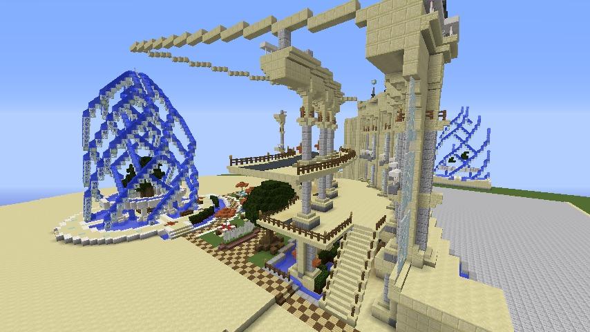 Minecrafterししゃもがマインクラフトで建築依頼を受けたビギナーズホールを建築する6