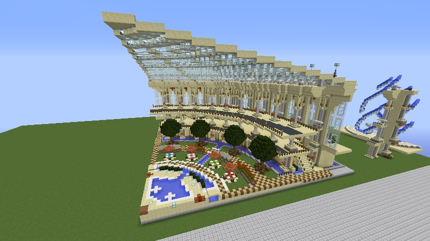 Minecrafterししゃもがマインクラフトで建築依頼を受けたビギナーズホールを建築する8