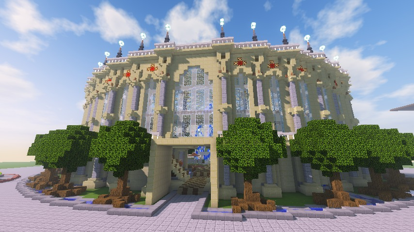 Minecrafterししゃもがマインクラフトで建築依頼を受けたビギナーズホールを建築する16