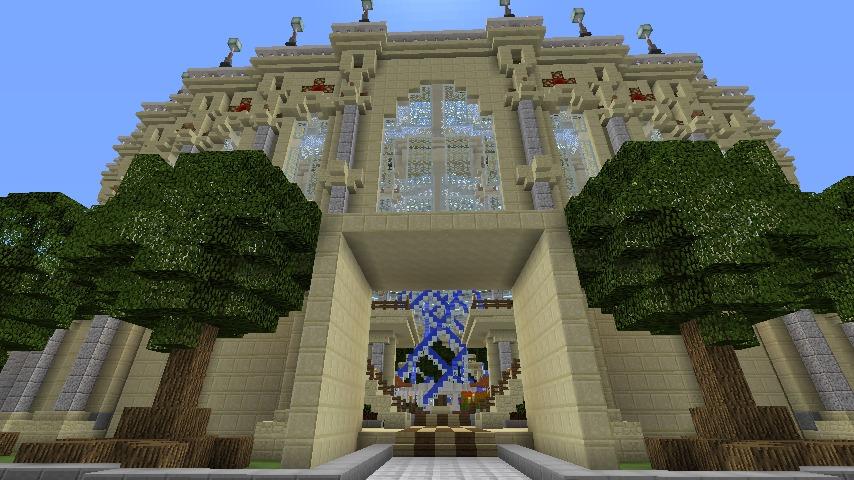 Minecrafterししゃもがマインクラフトで建築依頼を受けたビギナーズホールを建築する11