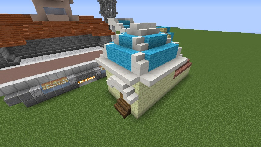 Minecrafterししゃもがマインクラフトでぷっこ村にポークフランク工場を建築する9