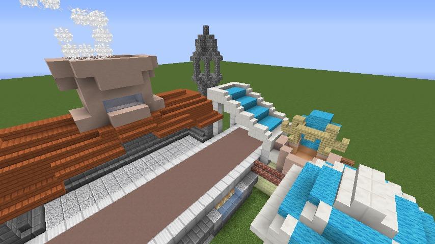 Minecrafterししゃもがマインクラフトでぷっこ村にポークフランク工場を建築する7
