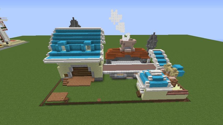 Minecrafterししゃもがマインクラフトでぷっこ村にポークフランク工場を建築する10