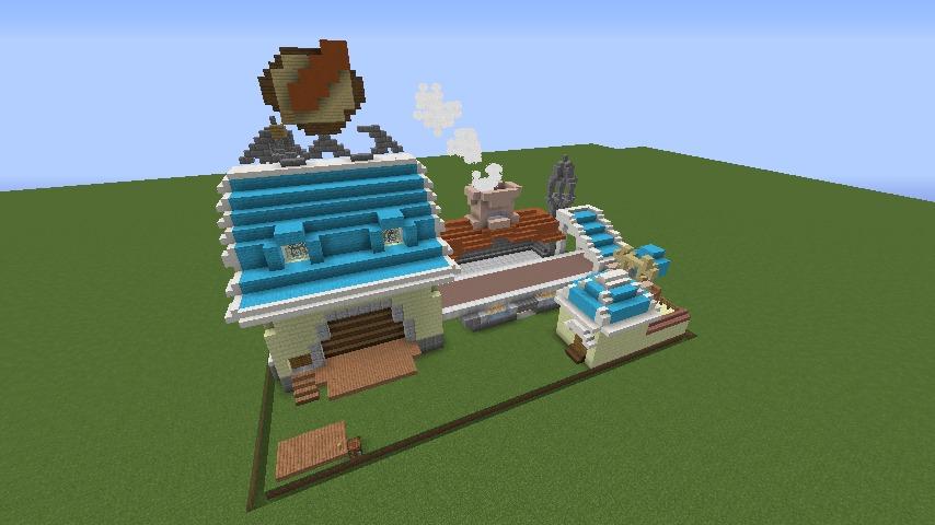Minecrafterししゃもがマインクラフトでぷっこ村にポークフランク工場を建築する12