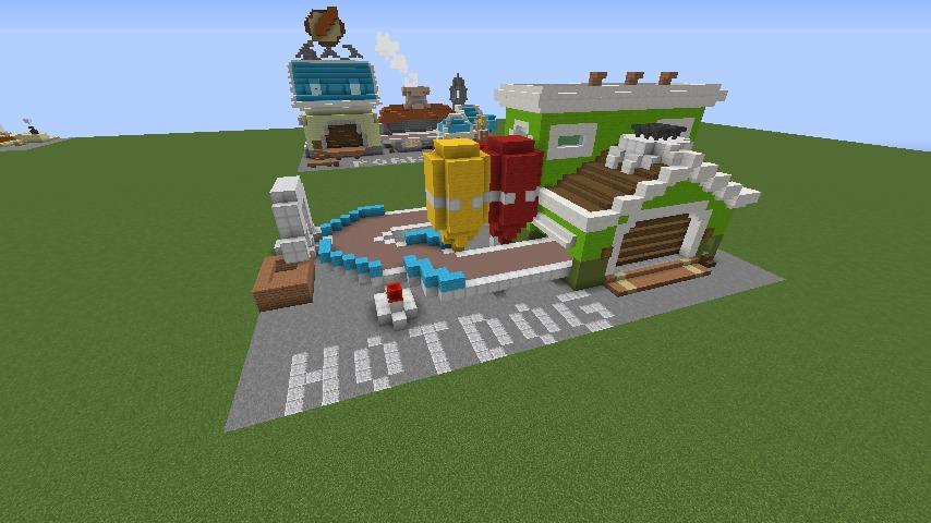 Minecrafterししゃもがマインクラフトでぷっこ村にホットドッグ工場を作る2