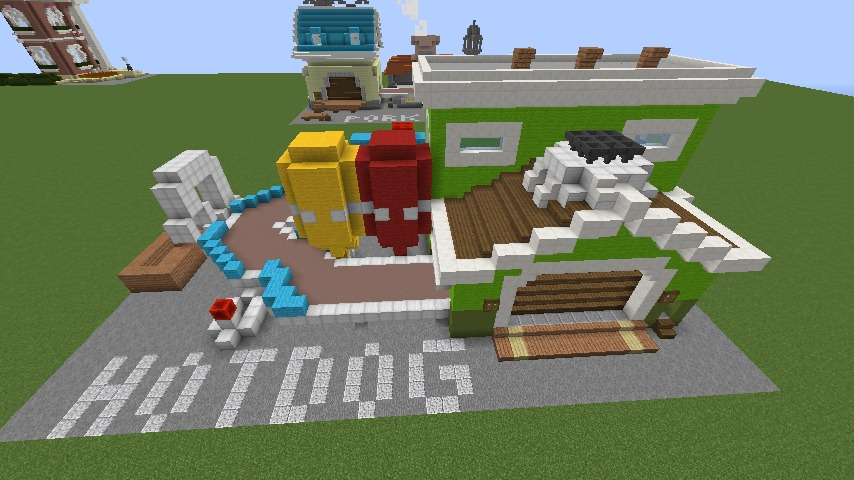Minecrafterししゃもがマインクラフトでぷっこ村にホットドッグ工場を作る3