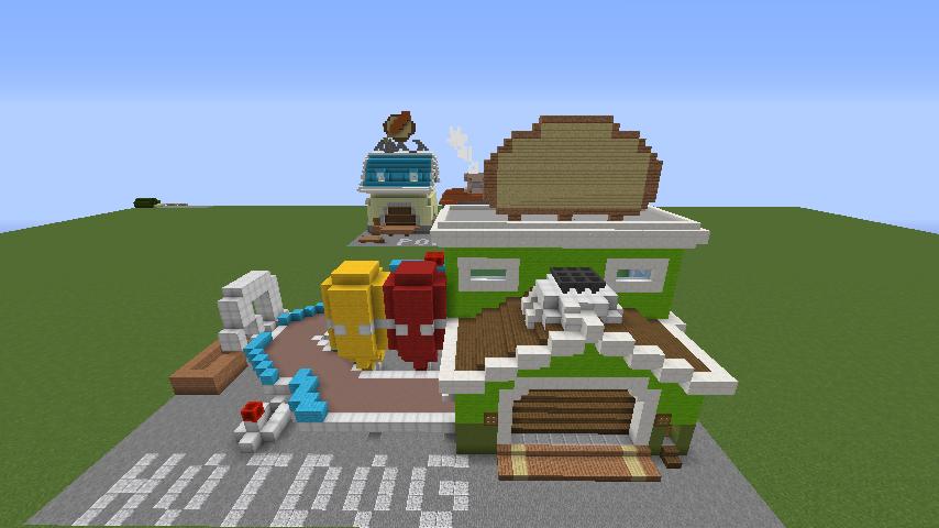 Minecrafterししゃもがマインクラフトでぷっこ村にホットドッグ工場を作る4