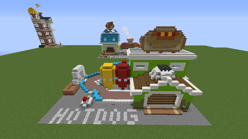 Minecrafterししゃもがマインクラフトでぷっこ村にホットドッグ工場を作る5