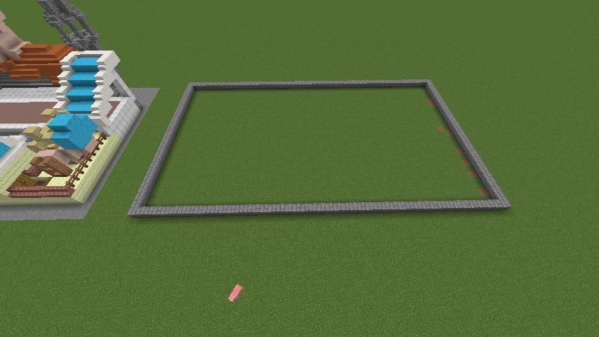 Minecrafterししゃもがマインクラフトでぷっこ村に豚専用の厩舎を建てる1