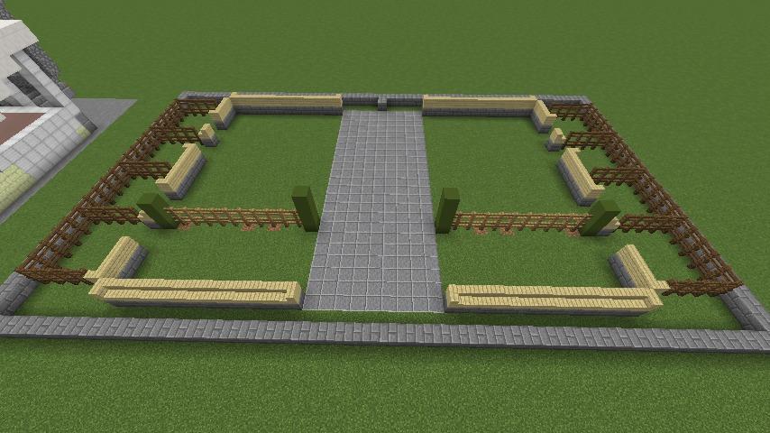 Minecrafterししゃもがマインクラフトでぷっこ村に豚専用の厩舎を建てる2