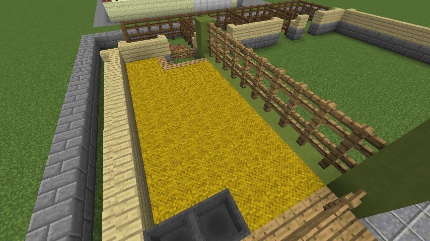Minecrafterししゃもがマインクラフトでぷっこ村に豚専用の厩舎を建てる3