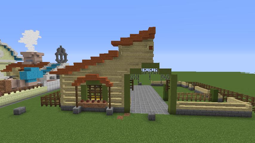 Minecrafterししゃもがマインクラフトでぷっこ村に豚専用の厩舎を建てる5