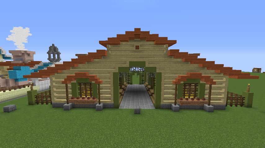 Minecrafterししゃもがマインクラフトでぷっこ村に豚専用の厩舎を建てる7