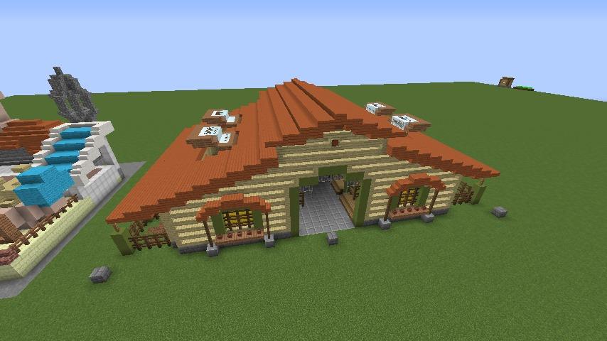Minecrafterししゃもがマインクラフトでぷっこ村に豚専用の厩舎を建てる8