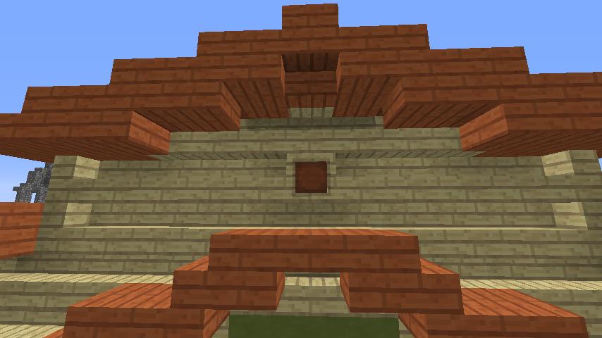 Minecrafterししゃもがマインクラフトでぷっこ村に豚専用の厩舎を建てる9