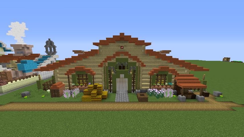 Minecrafterししゃもがマインクラフトでぷっこ村に豚専用の厩舎を建てる11