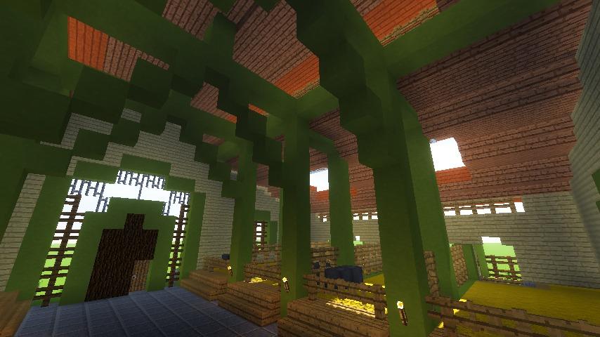 Minecrafterししゃもがマインクラフトでぷっこ村に豚専用の厩舎を建てる12
