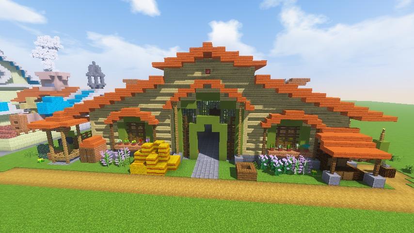Minecrafterししゃもがマインクラフトでぷっこ村に豚専用の厩舎を建てる14