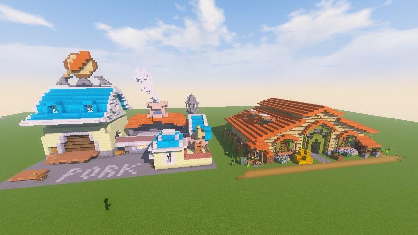 Minecrafterししゃもがマインクラフトでぷっこ村に豚専用の厩舎を建てる15