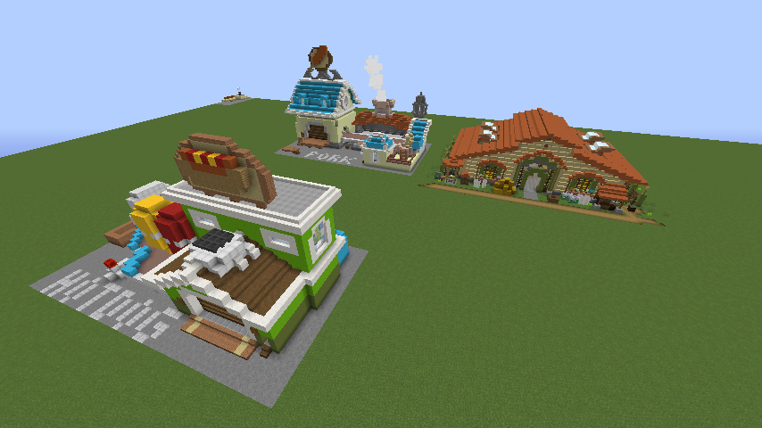 Minecrafterししゃもがマインクラフトでぷっこ村にホットドッグ工場を作る6