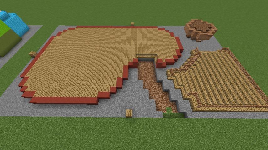 Minecrafterししゃもがマインクラフトでぷっこ村にポークレストランを作る3
