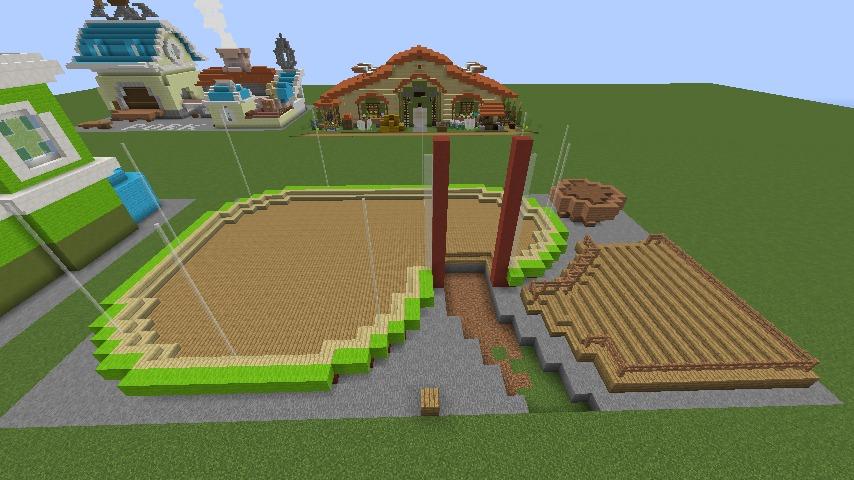 Minecrafterししゃもがマインクラフトでぷっこ村にポークレストランを作る4