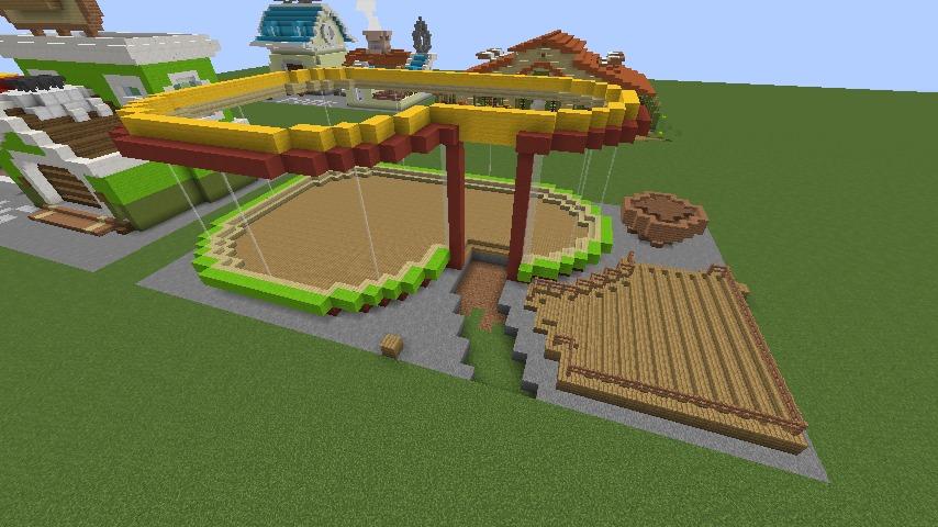 Minecrafterししゃもがマインクラフトでぷっこ村にポークレストランを作る5