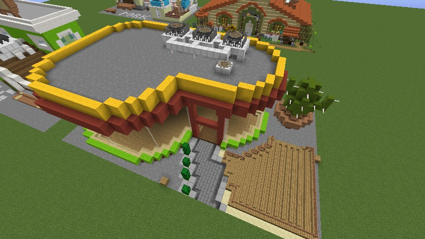 Minecrafterししゃもがマインクラフトでぷっこ村にポークレストランを作る7