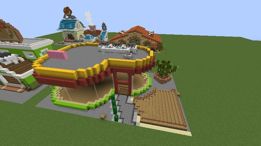 Minecrafterししゃもがマインクラフトでぷっこ村にポークレストランを作る8
